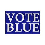Vote Blue Rectangle Magnet (10 pack)