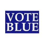 Vote Blue Rectangular Fridge Magnet