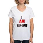 I Am Hip-Hop Women's V-Neck T-Shirt