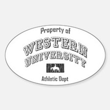 Western University Oval Decal