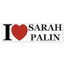 I Love Palin Bumper Bumper Sticker
