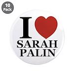 "I Love Palin 3.5"" Button (10 pack)"