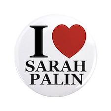 """I Love Palin 3.5"""" Button"""