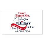 I Voted for HILLARY Rectangle Sticker 10 pk)