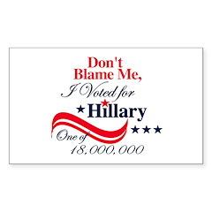 I Voted for HILLARY Rectangle Sticker 10 pk)