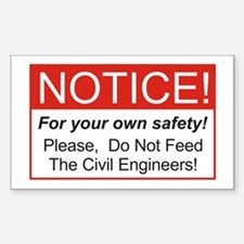 Notice / Civil Eng. Rectangle Decal