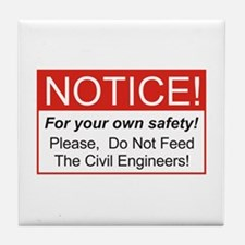 Notice / Civil Eng. Tile Coaster