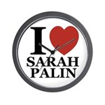 I Love Palin Wall Clock
