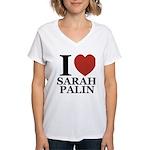 I Love Palin Women's V-Neck T-Shirt