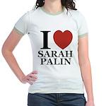 I Love Palin Jr. Ringer T-Shirt