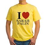 I Love Palin Yellow T-Shirt