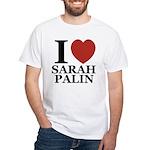 I Love Palin White T-Shirt