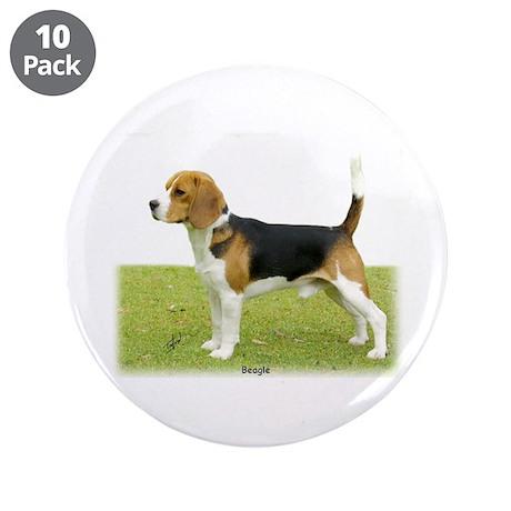 "Beagle 9J27D-02 3.5"" Button (10 pack)"