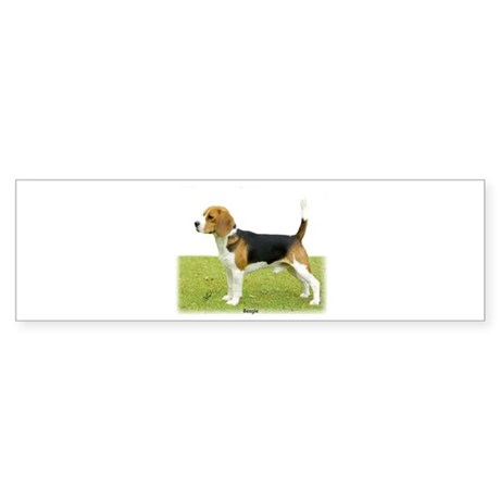Beagle 9J27D-02 Sticker (Bumper)
