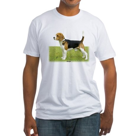 Beagle 9J27D-02 Fitted T-Shirt