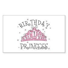 Tiara Birthday Princess 1st Rectangle Decal