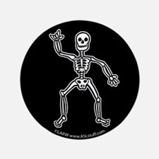 "ILY SkeletonBlack 3.5"" Button (100 pack)"