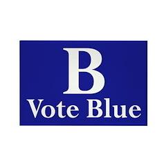 B: Vote Blue Refrigerator Magnet