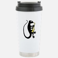 Gecko Saxophone Stainless Steel Travel Mug