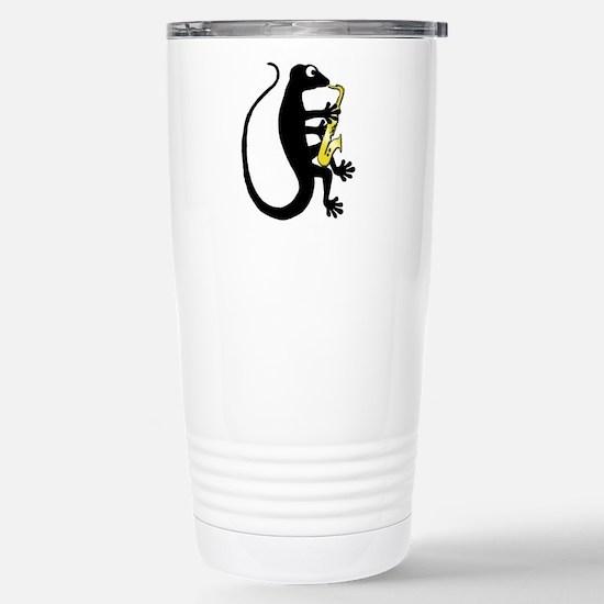 Gecko Saxophone Stainless Steel Travel Mug
