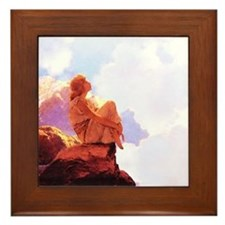 Maxfield Parrish Morning Framed Tile