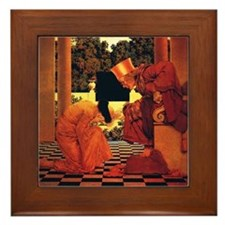 Maxfield Parrish King of Hearts Framed Tile