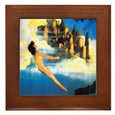 Maxfield Parrish Dinky Bird Framed Tile