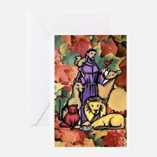 Saint Francis Leaves Greeting Cards