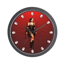 Condi Amazon Warrior Wall Clock