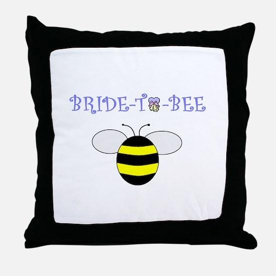 BRIDE-TO-BEE Throw Pillow