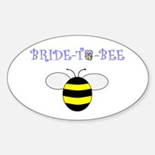 BRIDE-TO-BEE Oval Decal