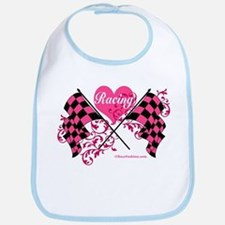 Pink Racing Flags Bib