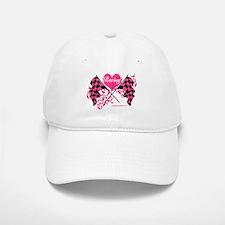 Pink Racing Flags Baseball Baseball Cap