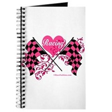 Pink Racing Flags Journal