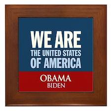 We Are the USA Framed Tile