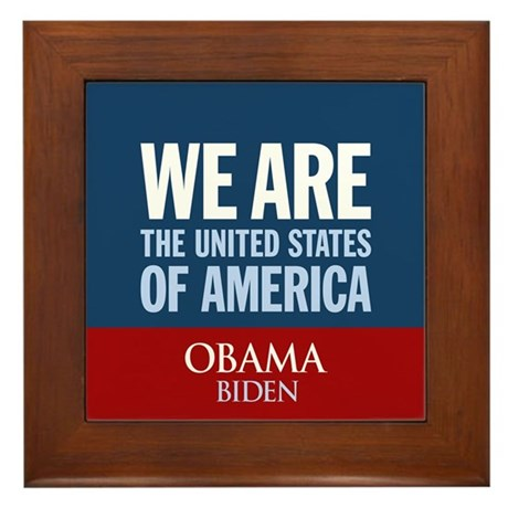 We Are the USA Framed Tile