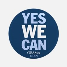 "Yes We Can Blue 3.5"" Button"