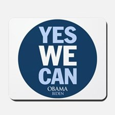 Yes We Can Blue Mousepad