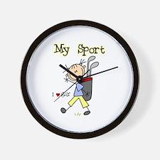 Golf My Sport Wall Clock