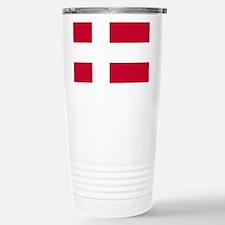 Flag: Denmark Stainless Steel Travel Mug