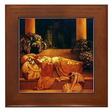 Maxfield Parrish Sleeping Beauty Framed Tile