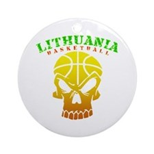 Lithuania Basketball Ornament (Round)