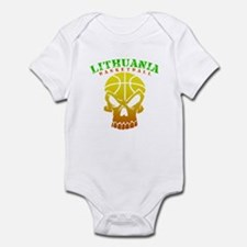 Lithuania Basketball Infant Bodysuit