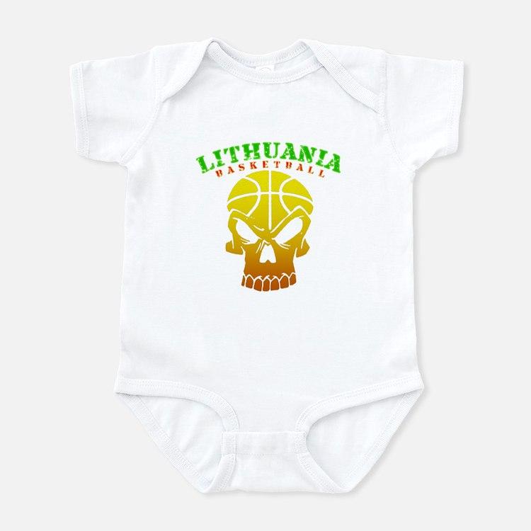 Lithuania Basketball Infant Bodysuit