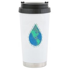 Water Drop Earth Travel Mug