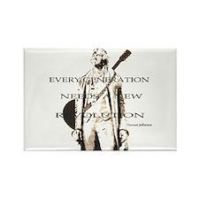 Thomas Jefferson Revolution Rectangle Magnet
