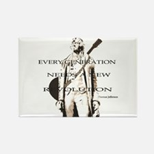 Thomas Jefferson Revolution Rectangle Magnet