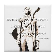 Thomas Jefferson Revolution Tile Coaster