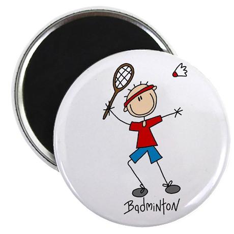 "Badminton 2.25"" Magnet (100 pack)"