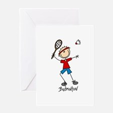 Badminton Greeting Card